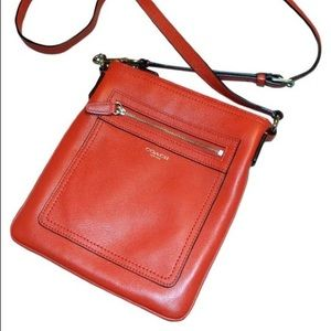 Coach Slingpack Purse In coral Cross Body